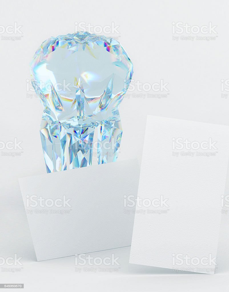 Branding Business Card Mockup For Dentistry With A Diamond Tooth