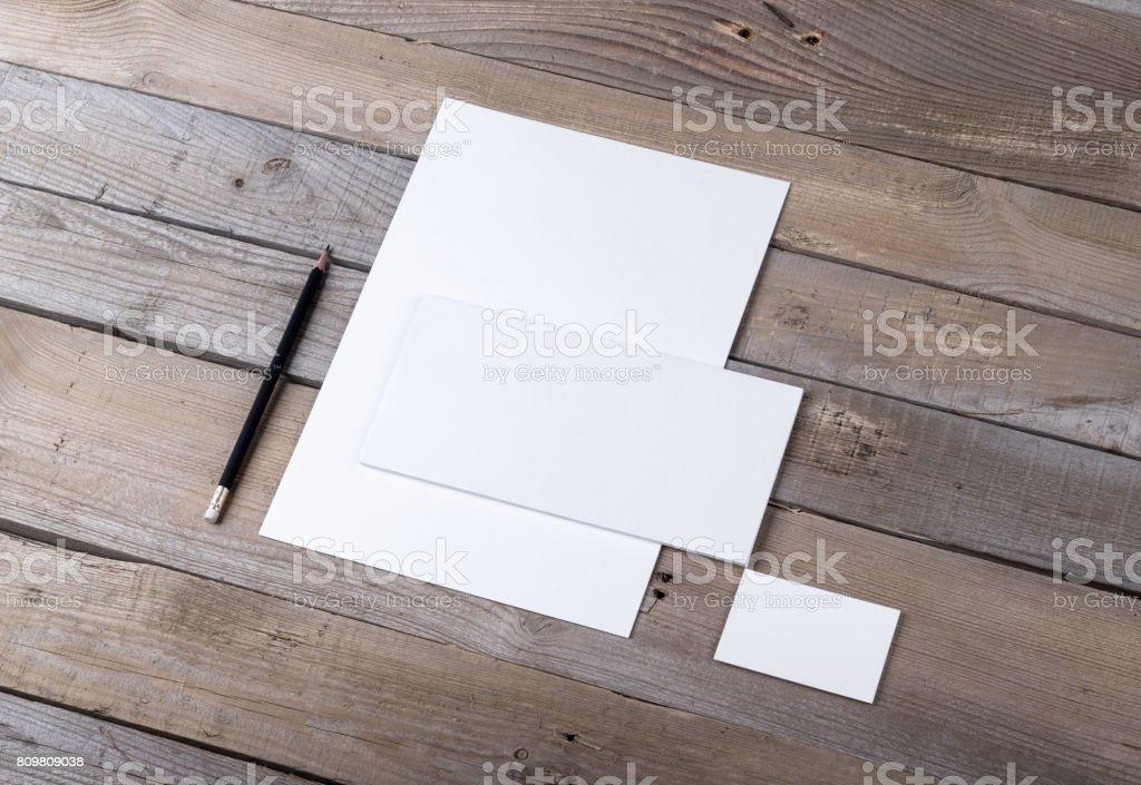 Branding identity mockup stock photo