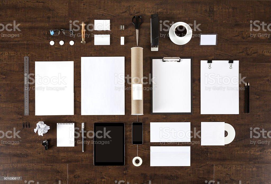 Branding identity stock photo