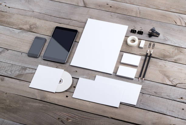 branding identity - stationary stock photos and pictures
