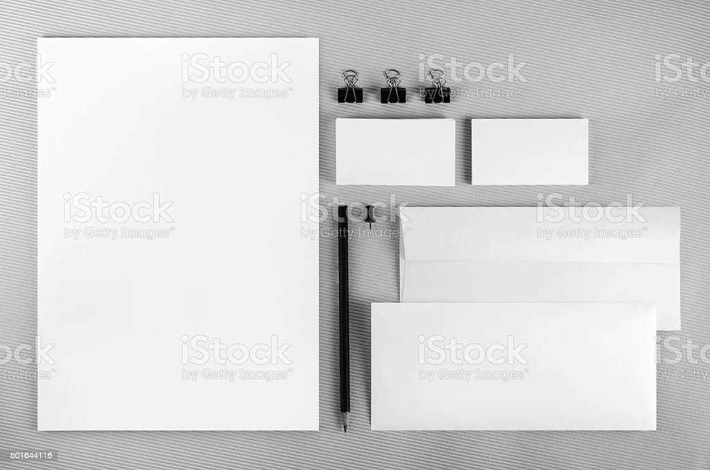 Branding identity set stock photo
