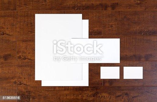 istock Branding identity stationary mock-up 513635516