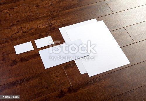 istock Branding identity stationary mock-up 513636004
