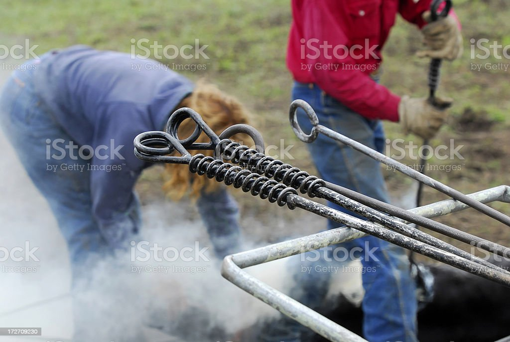 Branding Irons royalty-free stock photo