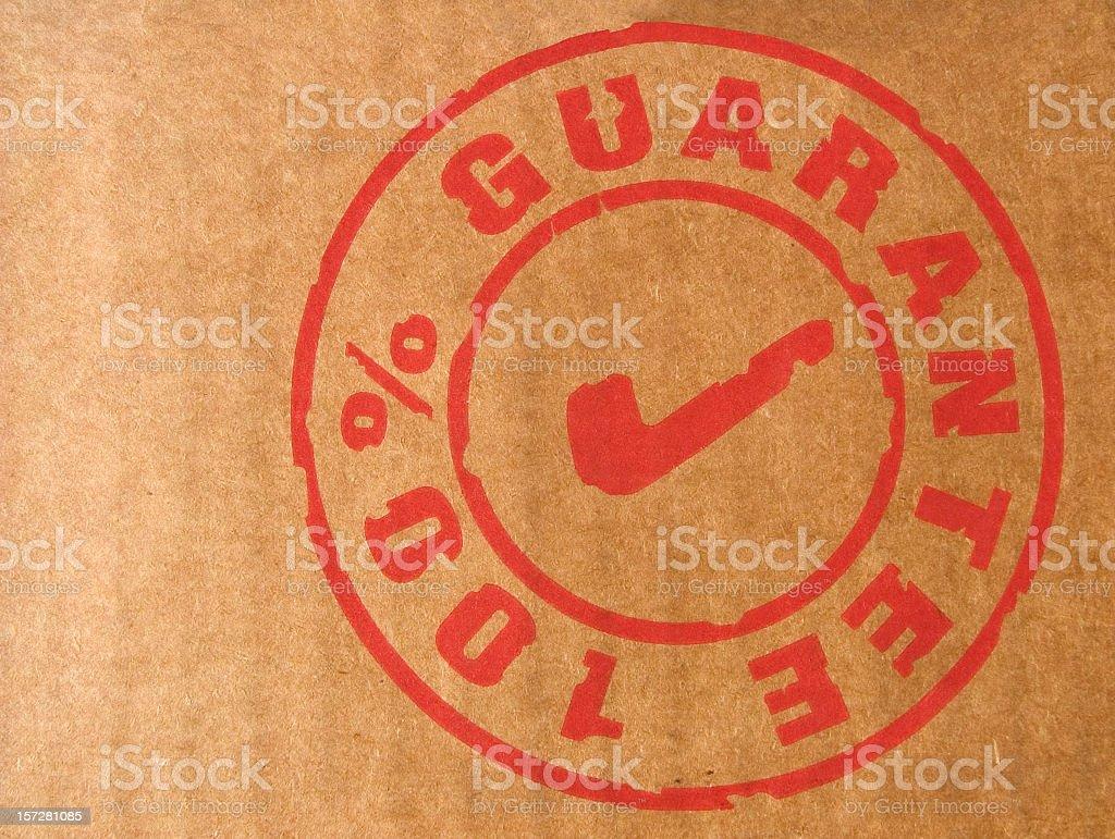 branding label: 100% guarantee stock photo