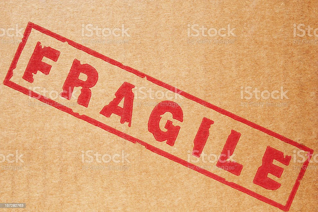 Branding Label: Fragile royalty-free stock photo