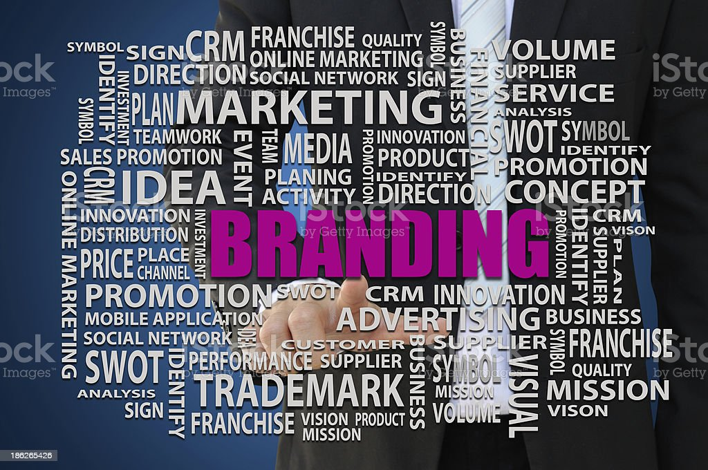 Branding Marketing Concept stock photo
