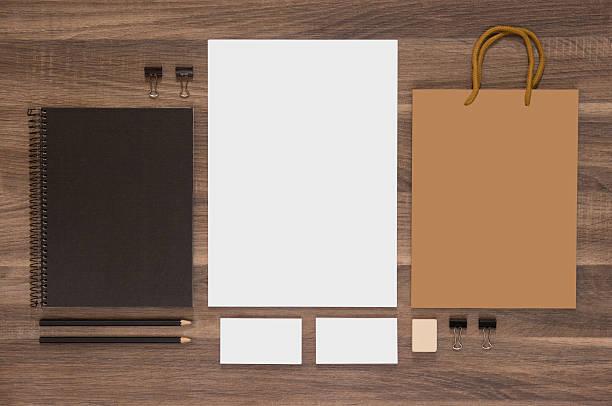 branding mock-up-kollektion für ci präsentation - motionless in white stock-fotos und bilder