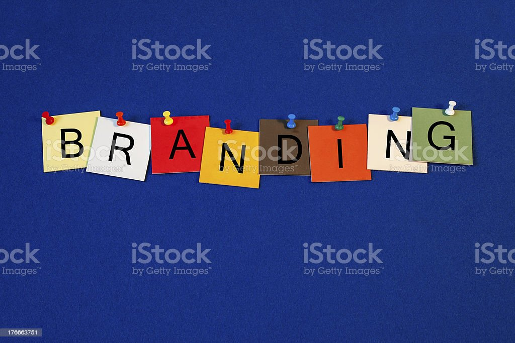 Branding - sign series for business terms. royalty-free stock photo