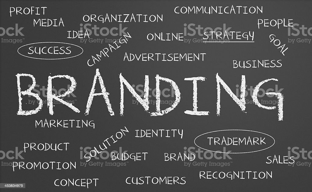 Branding word cloud royalty-free stock photo