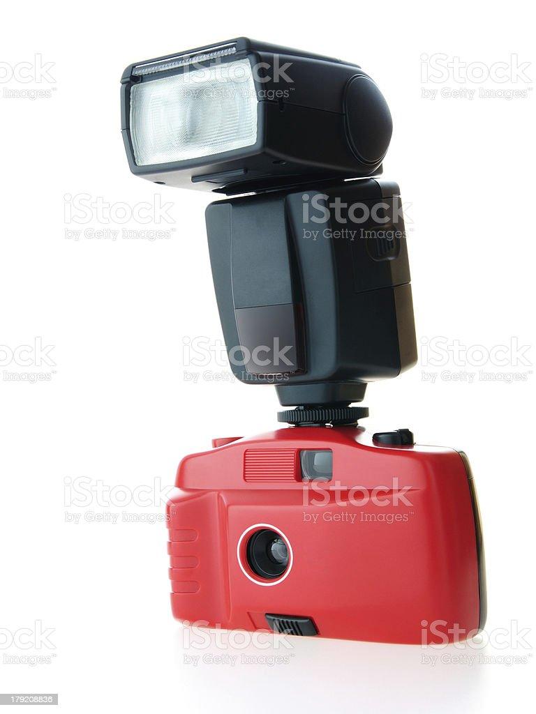 Brandless Camera with Flash stock photo