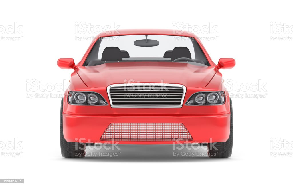 Brandless Generic Red Car stock photo