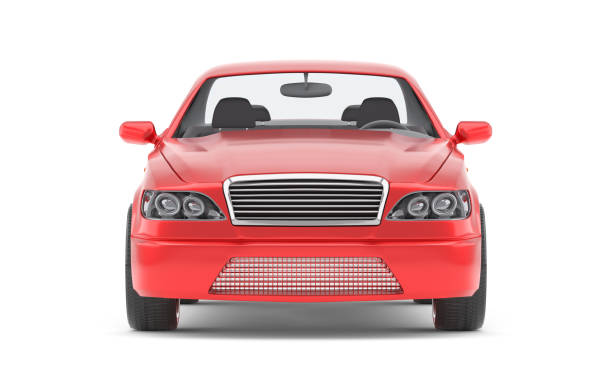 Brandless Generic Red Car - foto stock