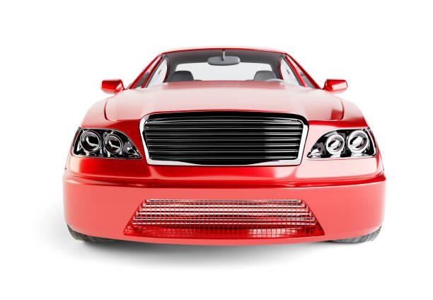 Brandless Generic Red Car stock photo