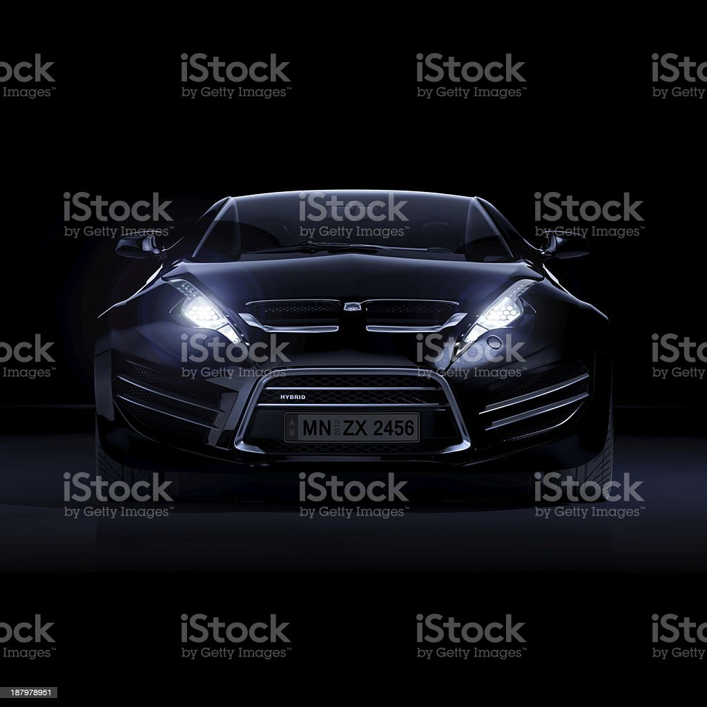 Brandless sports car stock photo