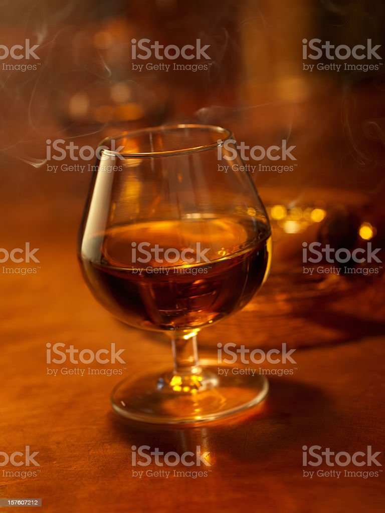 Brandy and a Cigar royalty-free stock photo