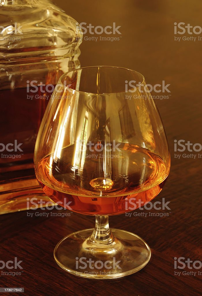 Brandy and Decanter royalty-free stock photo
