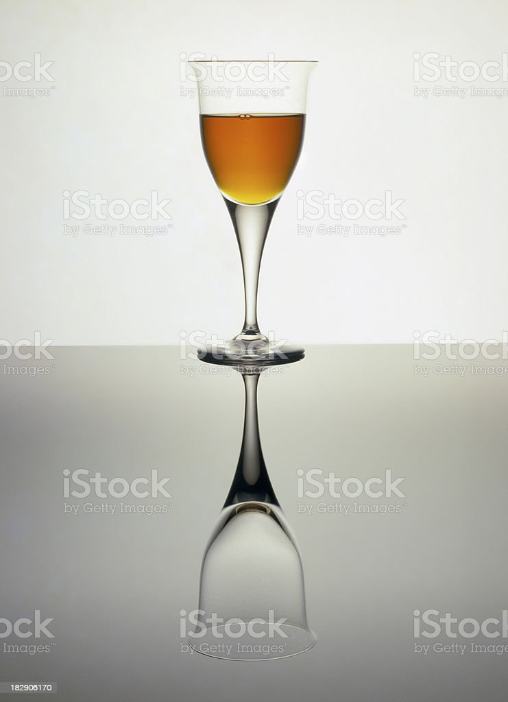 Brandy full or empty royalty-free stock photo