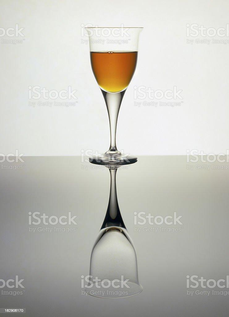 Brandy full or empty stock photo