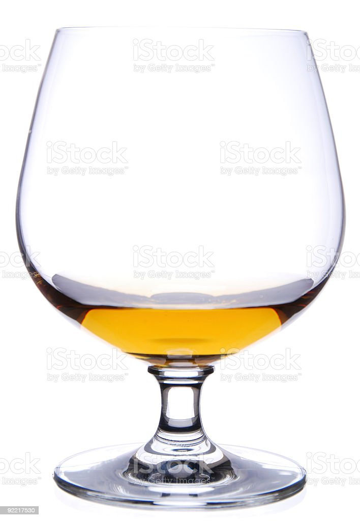 Brandy Glass isolated on white royalty-free stock photo