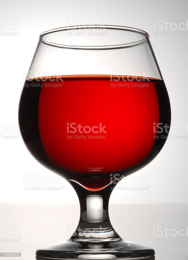 Brandy Glass on Gradient royalty-free stock photo