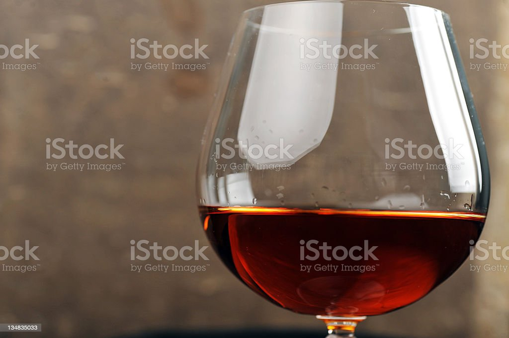 brandy in glass royalty-free stock photo