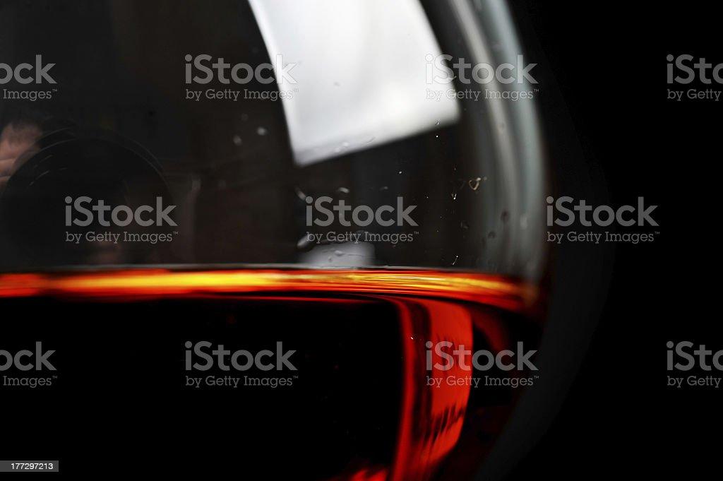 brandy in glass royalty-free stock photo