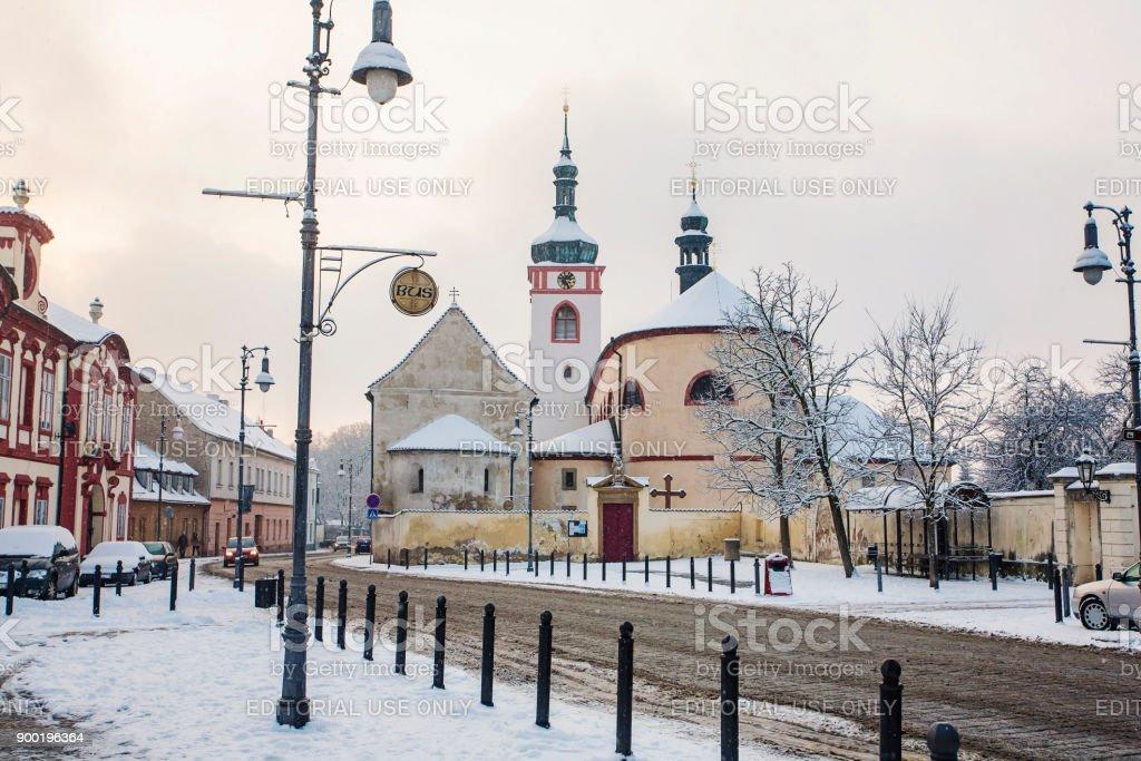 Brandys nad Labem - Stara Boleslav - Saint Wenceslas basilica and St Kliment church stock photo