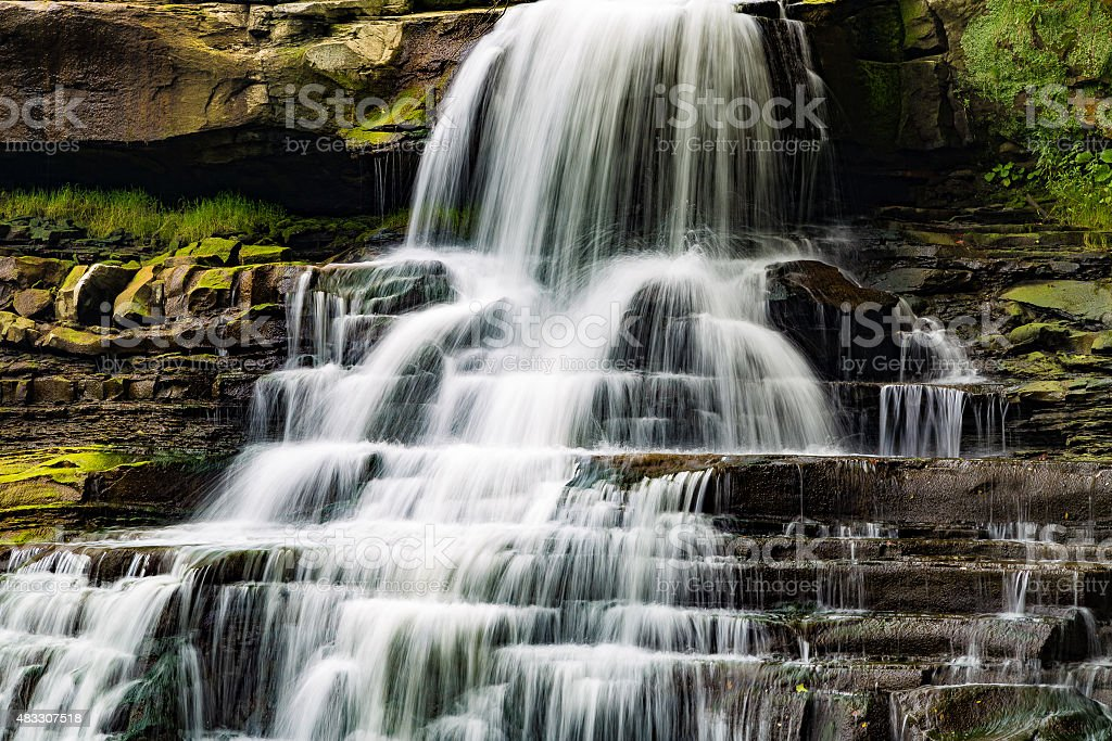 Brandywine Falls closeup stock photo