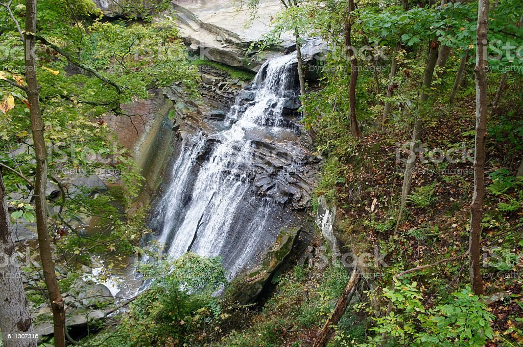 Brandywine Falls Cuyahoga Valley National Park stock photo