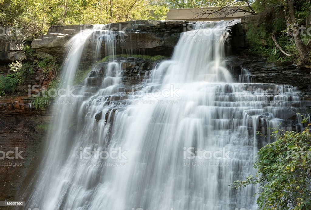 Brandywine Falls Silky Waterfall stock photo