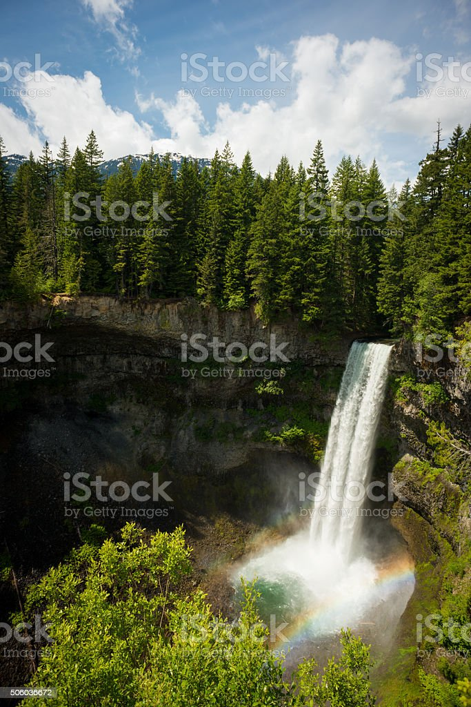 Brandywine Falls south of Whistler stock photo