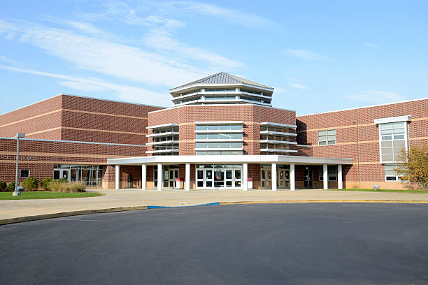Brandywine Heights High School in Topton, Pennsylvania stock photo