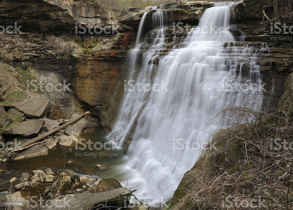 Brandywine Waterfall in Spring stock photo