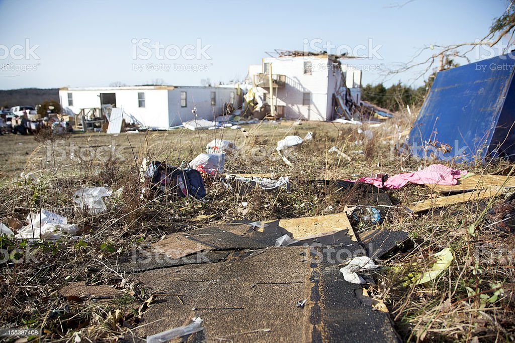 Branson Missouri destructive Tornado aftermath stock photo