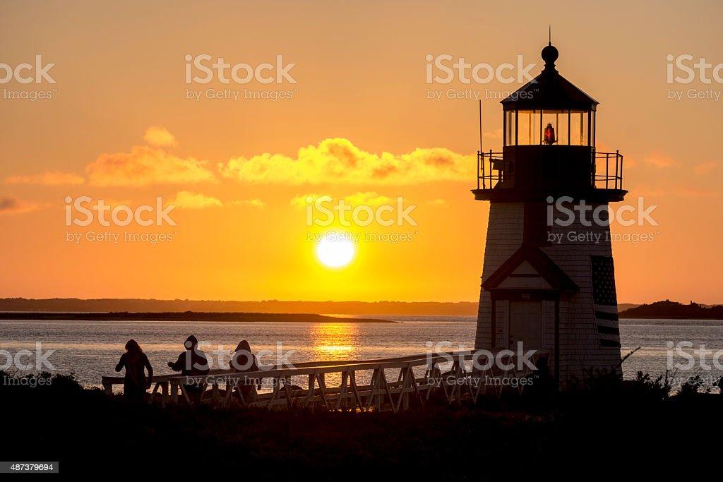 Brant Point Light stock photo