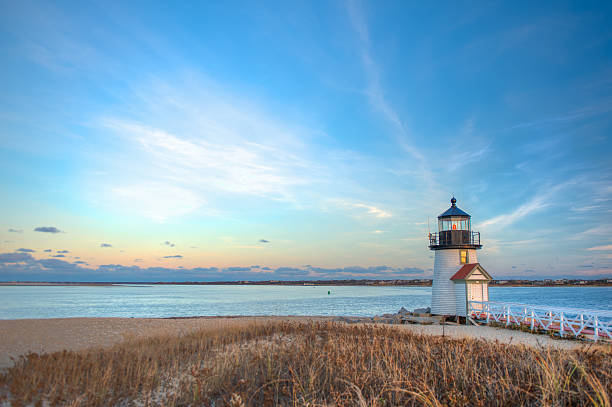 Brant Point Lighthouse Nantucket MA stock photo