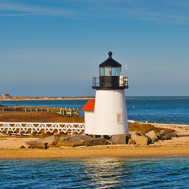 Brant Point Lighthouse, Nantucket, Massachusetts, USA stock photo