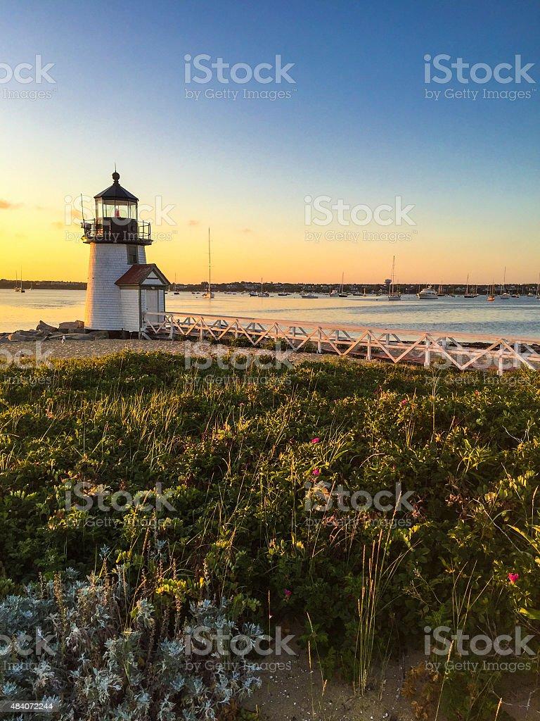 Brant Point Lighthouse stock photo