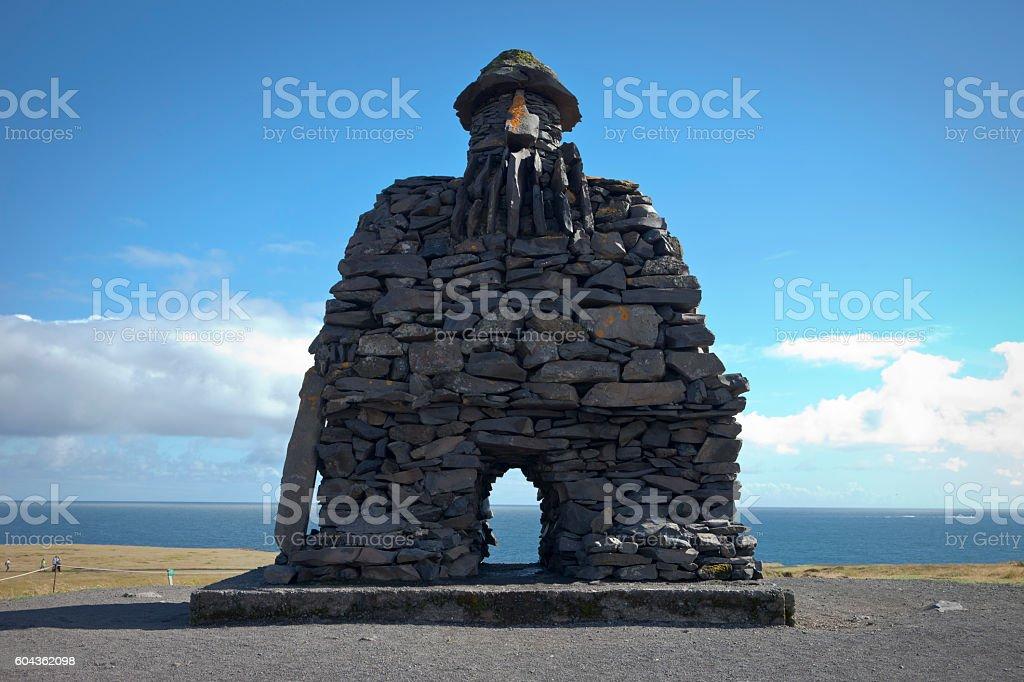 Bárðar Saga Snæfellsáss Statue stock photo