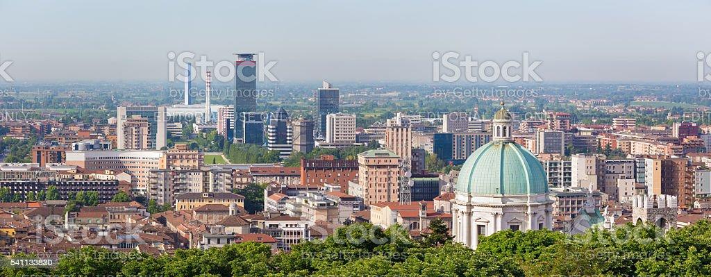 Brascia-panorama di Brescia - foto stock