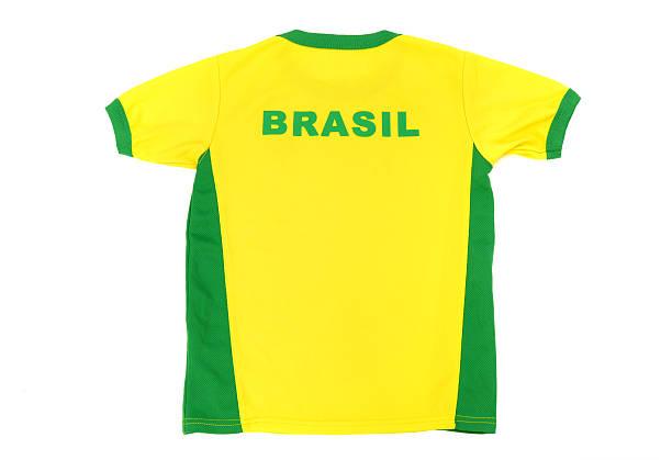 Brasil man football t-shirt. stock photo
