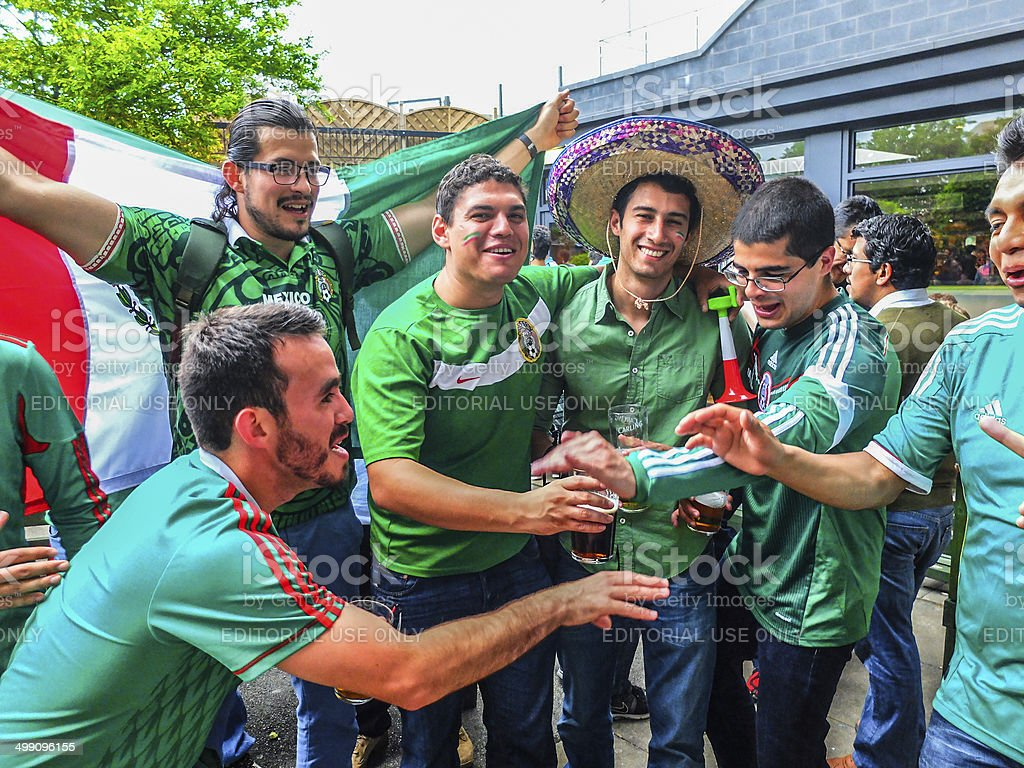 Brasil World Cup - Mexico stock photo