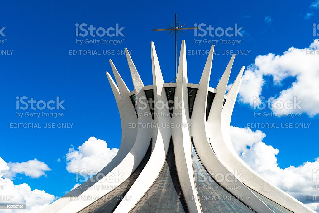 Brasilia Cathedral in Brazil stock photo