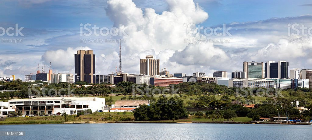 Brasília Panorama do horizonte em um dia ensolarado, Brasil foto royalty-free