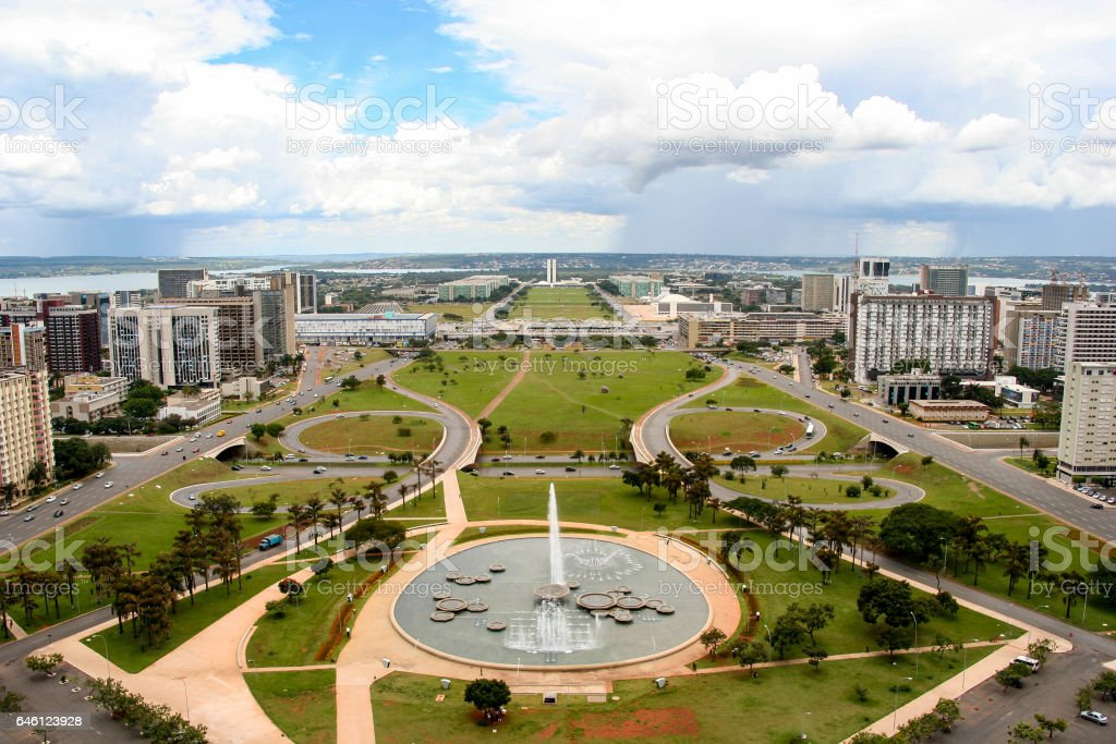 Brasilia skyline, the federal capital of Brazil stock photo