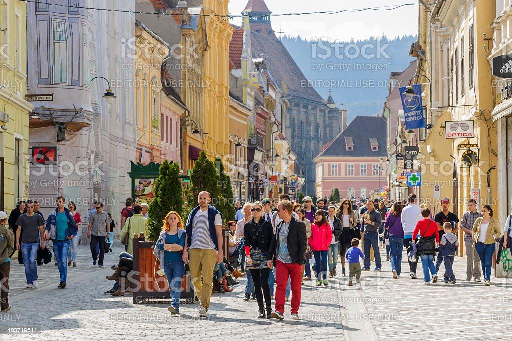 Brasov downtown stock photo