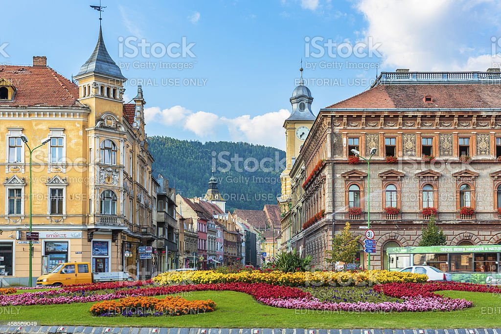 Brasov historical center, Romania stock photo