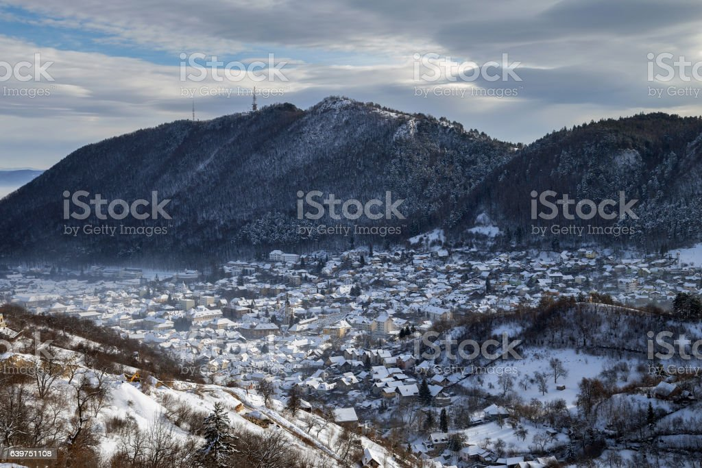 Brasov medieval town stock photo