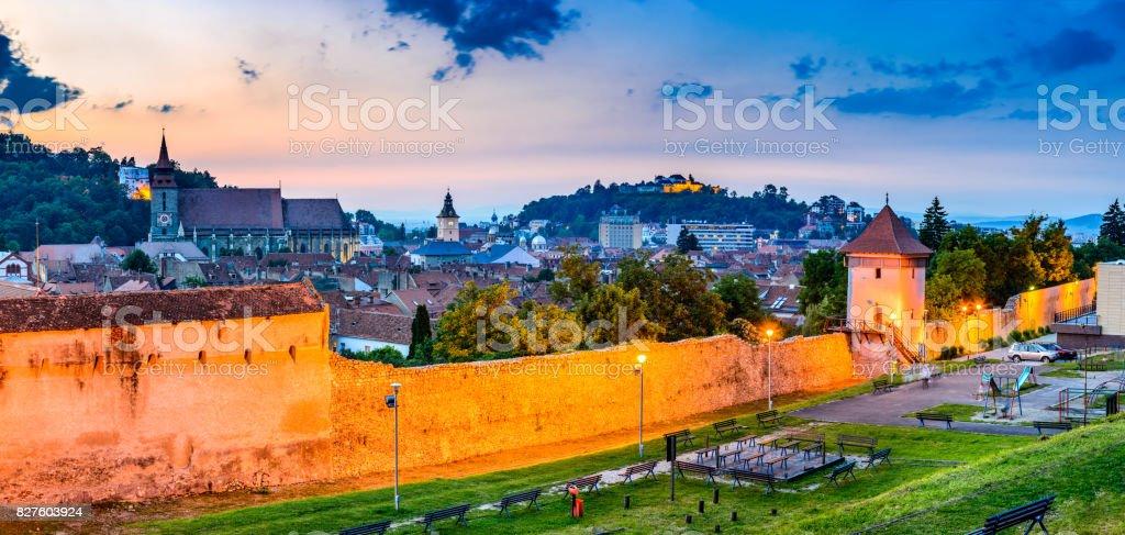 Brasov, Romania, Transylvania - Medieval downtown stock photo